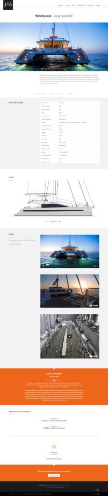 Site internet • JFA Yachts