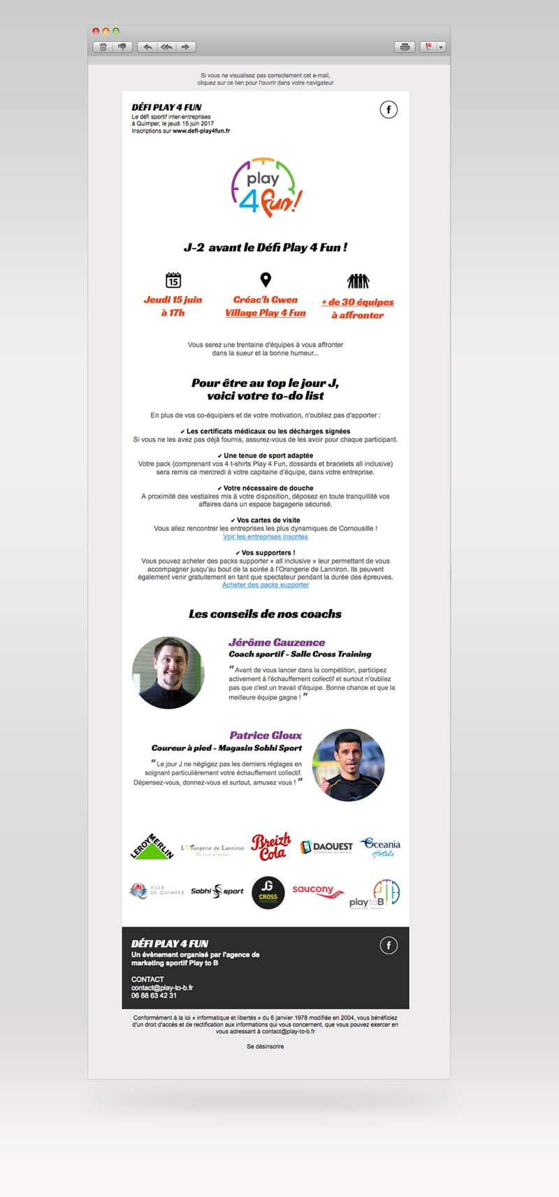 Campagnes e-mailing • Play 4 Fun
