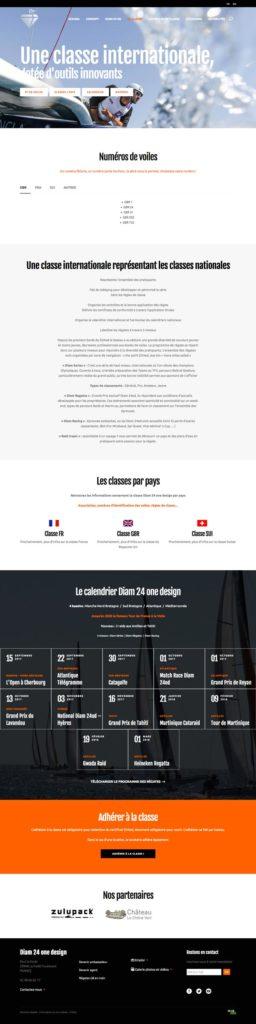 Site Diam 24 one design • Page La classe