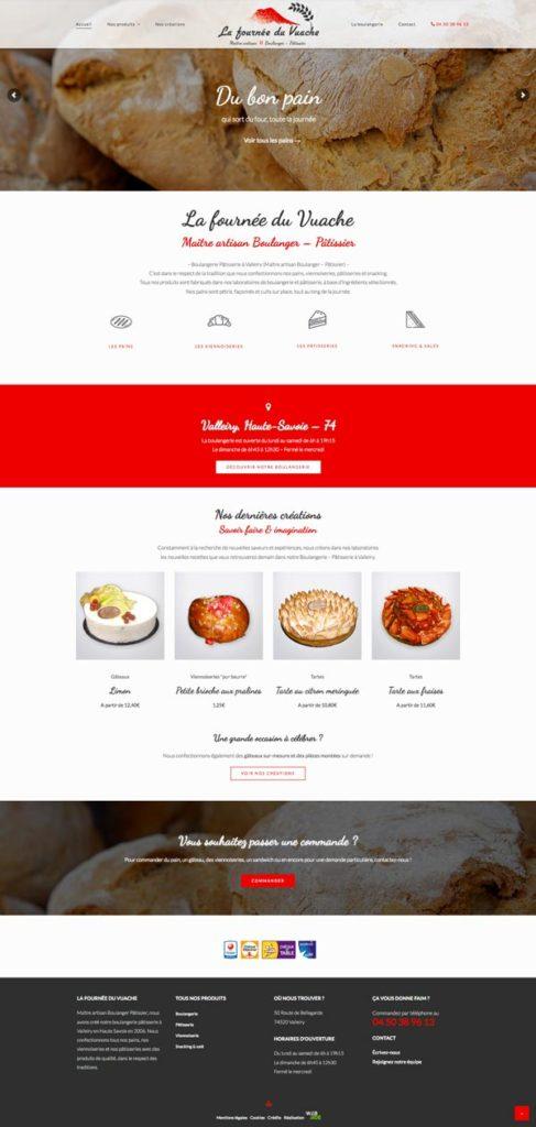 Site internet • Page d'accueil