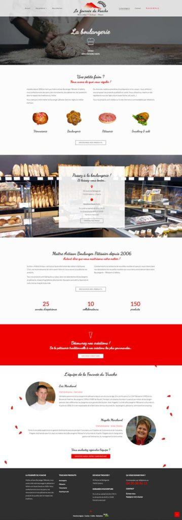 Site internet • La boulangerie