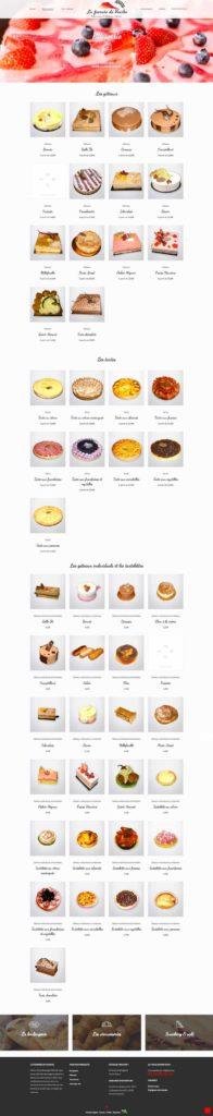 Site internet • Catégorie Pâtisseries