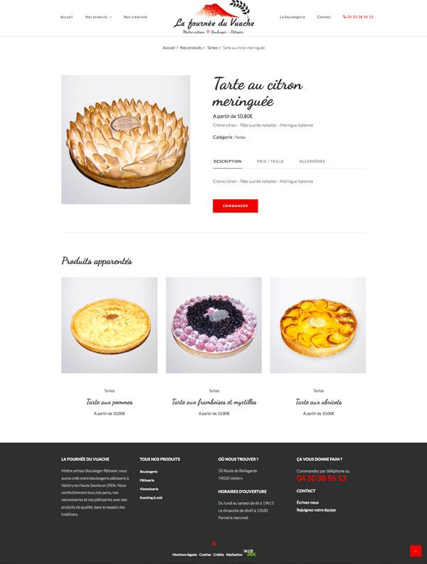 Site internet • Fiche produit