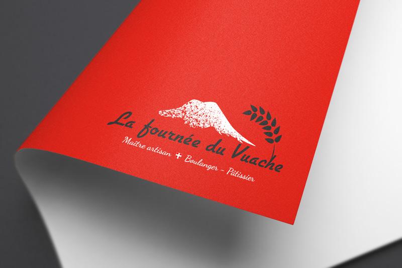 Logo fond rouge • Fournée du Vuache