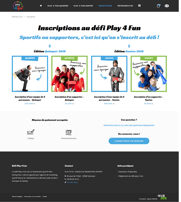 Site internet • Play 4 Fun