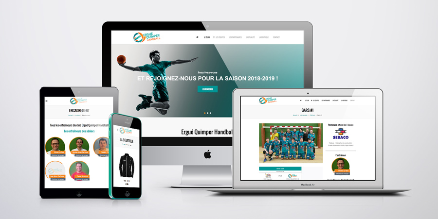 Site internet • Ergue Quimper Handball