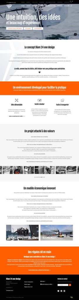 Site Diam 24 one design • Page Concept