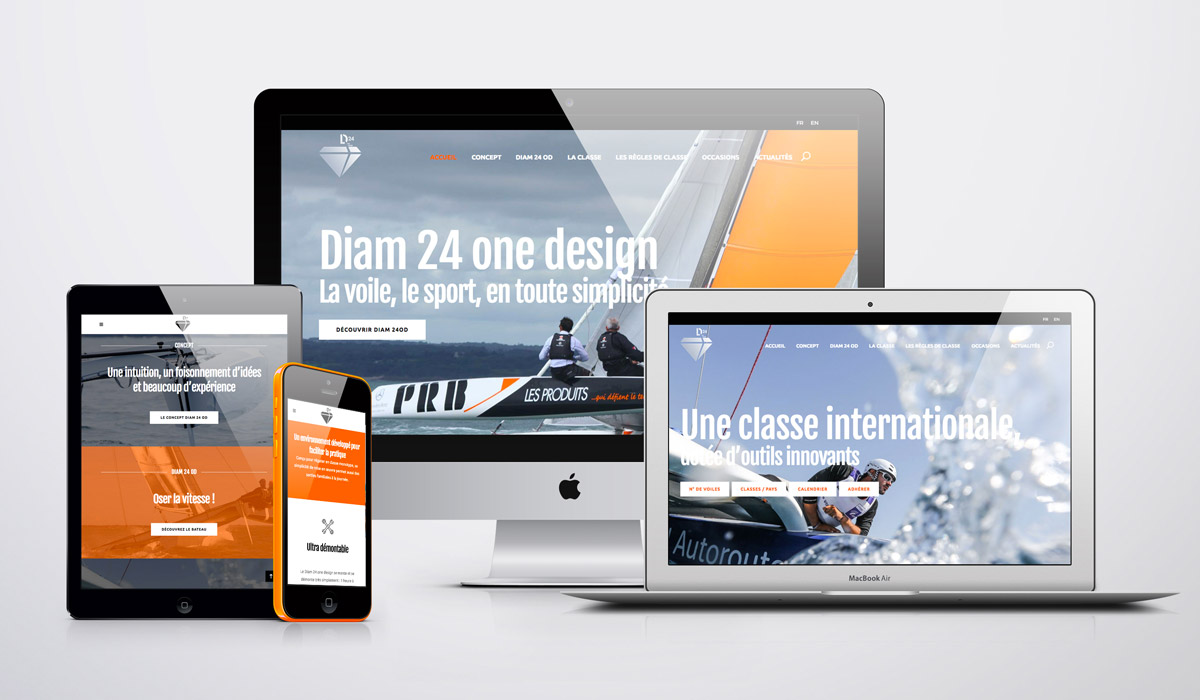 Site internet responsive • Diam 24 one design