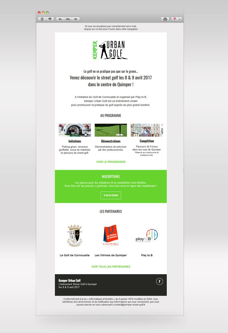 Campagnes e-mailing • Kemper Urban Golf